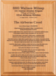 Airborne Creed Plaque Military Plaques | Laser Engraved