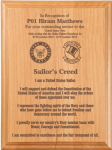 Sailor's Creed Plaque Military Plaques | Laser Engraved