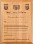 Warrant Officer Creed Plaque Military Plaques | Laser Engraved