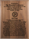 Marine Corps NCO Creed Walnut Plaque Military Plaques | Laser Engraved