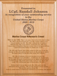 Marine Corps Rifleman's Creed Plaque Military Plaques | Laser Engraved