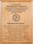 Marine Corps Drill Instructors Creed Plaque Military Plaques | Laser Engraved