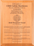 Army Drill Sergeant Creed Plaque Military Plaques | Laser Engraved