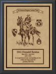 Military Leather Emblem Plaque 8 X 10 Military Plaques | Laser Engraved