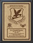 Military Leather Emblem Plaque 9 X 12  Military Plaques | Laser Engraved