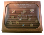 Challenge Coin Display - 100 Coin Step in Glass Military Retirement Challenge Coin Displays