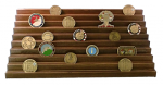 Challenge Coin Display -100 Coin Step Military Retirement Challenge Coin Displays