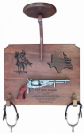 Cavalry Stetson Display with Military Pistol Military Retirement Gift Pistols