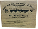 Solid Walnut Laser Engraved Plaque Military Retirement Gift Plaques