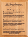 Ranger Creed Plaque Military Retirement Gift Plaques
