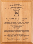 Soldier's Creed Plaque Military Retirement Gift Plaques