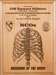 NCO - Backbone of the Army Alder Plaque Military Retirement Gift Plaques