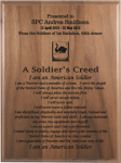 Soldier's Creed Walnut Plaque Military Retirement Gift Plaques