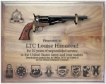 Specialty Military Pistol Plaque  Military Retirement Gift Plaques