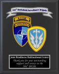 Army Multiple Crest Plaques Military Retirement Gift Plaques