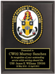 Navy Crest Plaques  Military Retirement Gift Plaques