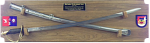 Crossed Sabers Saber Wall Display Military Retirement Gift Sabers and Displays