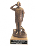 Flightline Maintainer Statue - Male on Walnut Base  Military Retirement Gift Statues