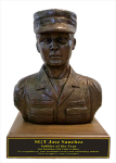 Soldier Bust - Male Army Statue on Walnut Base Military Retirement Gift Statues