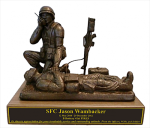Combat Medic - Corpsman  with Radio Statue - Male Military Retirement Gift Statues