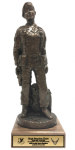 Air Force Security Force Female Statue on Walnut Base Military Retirement Gift Statues