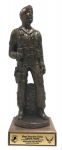 Air Force Security Force Male Statue on Walnut Base Military Retirement Gift Statues