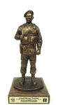 Air Force Security Force Statue on Walnut Base Military Retirement Gift Statues