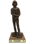 Helicopter Pilot Statue on Walnut Base Military Retirement Gift Statues