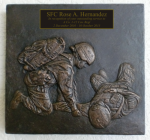 Female Combat Medic Plaque Military Statues | Military Figures