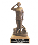 Flightline Maintainer statue- Female on Walnut Base Military Statues | Military Figures