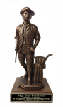 Minuteman Statue on Walnut Base 15  Military Statues | Military Figures