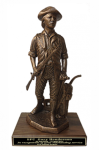 Minuteman Statue on Walnut Base 19 Military Statues | Military Figures