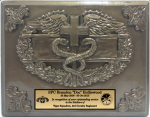 Combat Medic Badge Plaque Military Statues | Military Figures