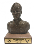 Air Force Security Force Male Bust on Walnut Base Military Statues | Military Figures