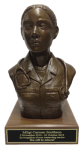Ethnic Female Doctor/Nurse Bust Statue on Walnut Base Military Statues | Military Figures
