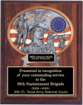 National Guard 10 1/2 x 13 Oval Relief Plaque National Guard Relief Plaques