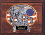 National Guard Oval 9 x 12  Oval Relief Plaque National Guard Relief Plaques