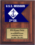 Navy Guidon Plaque Navy Guidon Plaques