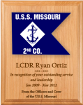 Navy Lasered Guidon Plaque  Navy Guidon Plaques
