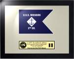 Framed Navy Guidon Gift 16 x 20  Navy Guidons