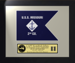 Framed Navy Guidon Gift 11 x 14 Navy Guidons