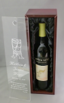 Wine Box Wth Acrylic Lid Personalized Gifts For the Bride and Groom