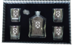 Glass Decanter with Glasses Personalized Groomsman Gifts