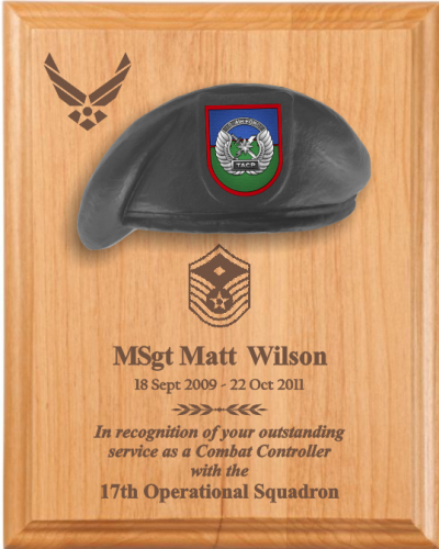 Going Away Quotes For Military Plaques: Air Force Beret Plaques