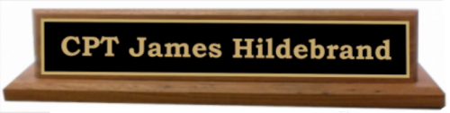 Deluxe Military Name Plate Army Desk Plates