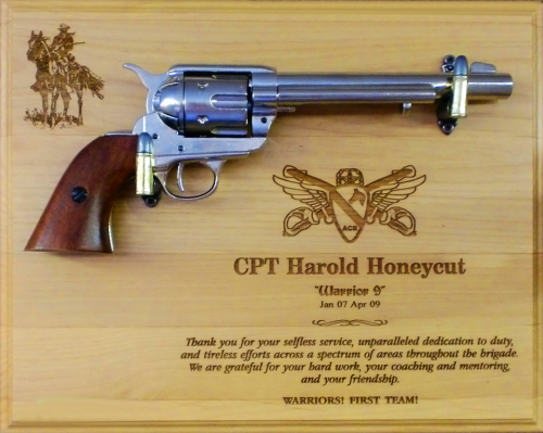 large alder military pistol plaque army gifts personalized awards