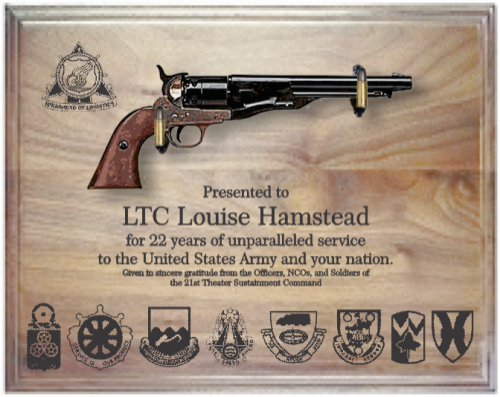 specialty military pistol plaque army gifts personalized awards