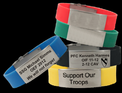 silicone memorial bracelet army memorial kia bracelets - Support Our Troops Silicone Bracelet