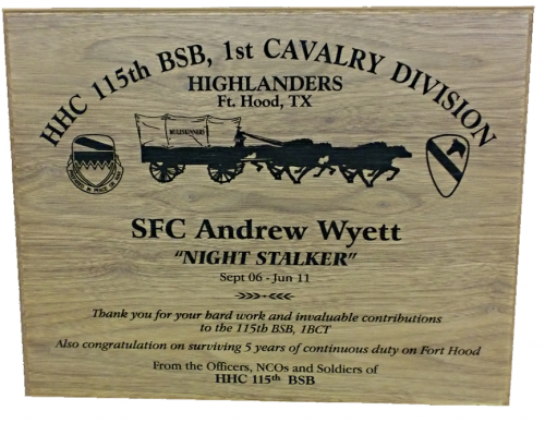 Army Plaques Classic Recognition