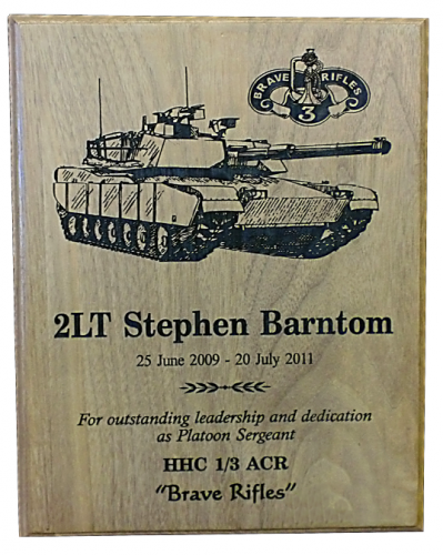 Army Plaques | Laser Engraved | Custom Shape